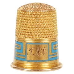 Fabergé Gold and Champlevé Enamel Thimble