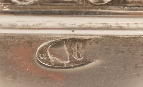 Elegant Antique Fabergé Silver Two-Handled Salt by Alexander Wäkevä For Sale 1