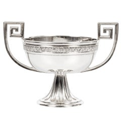 Elegant Antique Fabergé Silver Two-Handled Salt by Alexander Wäkevä