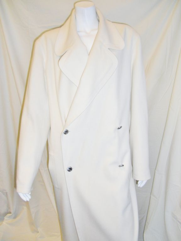 Chanel Winter White Duster Wool Coat 1920 S Style At 1stdibs
