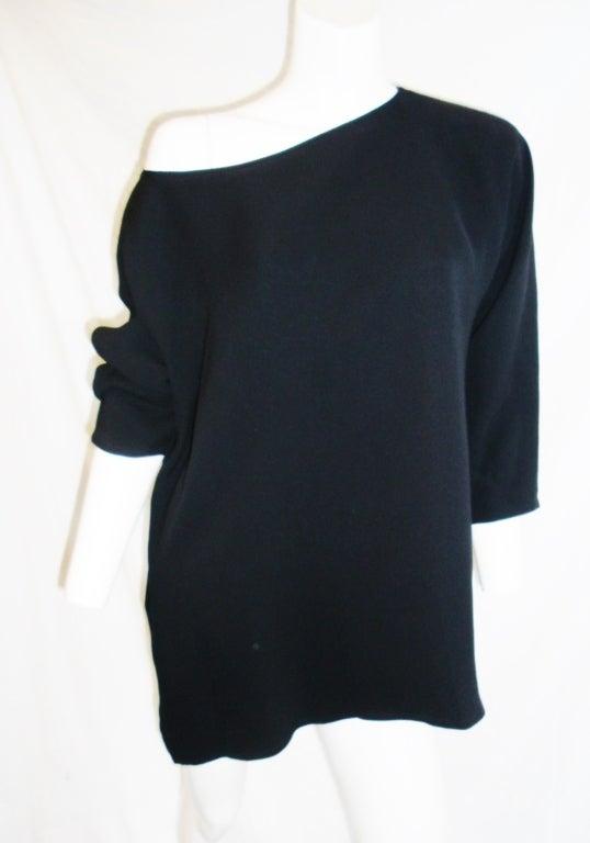 Zoran long sleeve silk tunic 4