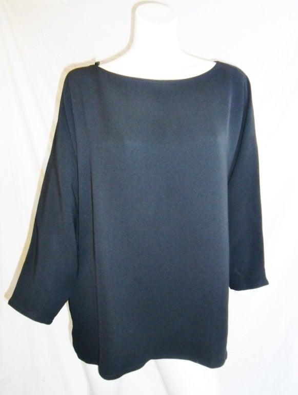 Zoran long sleeve silk tunic 5