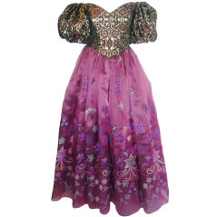Zandra Rhodes  Vintage  Disney inspired   Gown/ dress  like a wrinkle in time