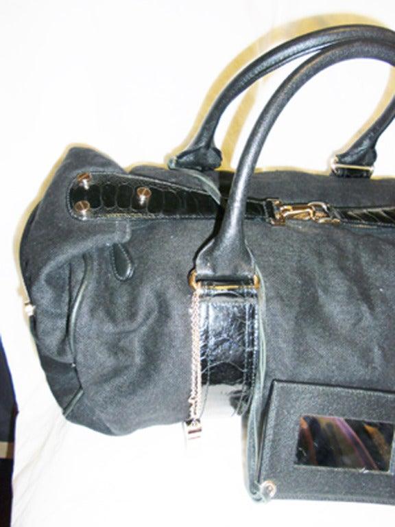 Balenciaga Alligator Trim 'whistle' Satchel Handbag 2