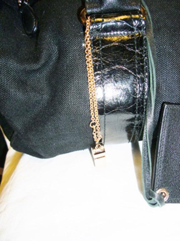 Balenciaga Alligator Trim 'whistle' Satchel Handbag 3