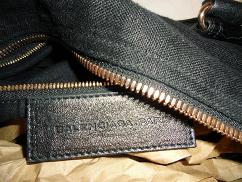 Balenciaga Alligator Trim 'whistle' Satchel Handbag 5