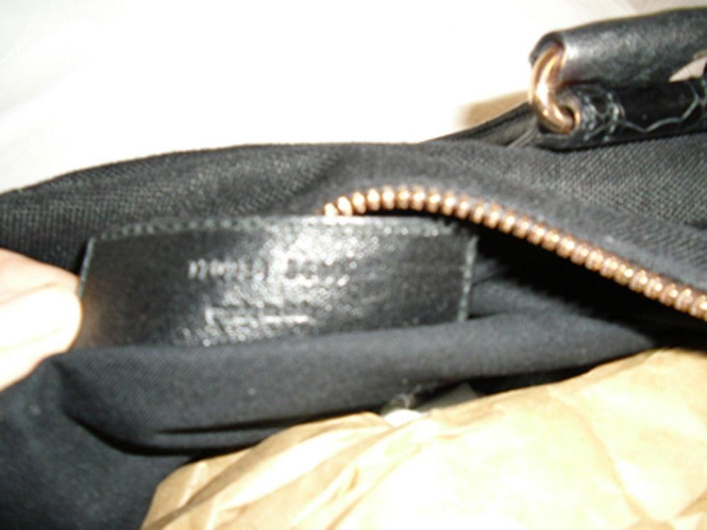 Balenciaga Alligator Trim 'whistle' Satchel Handbag 6