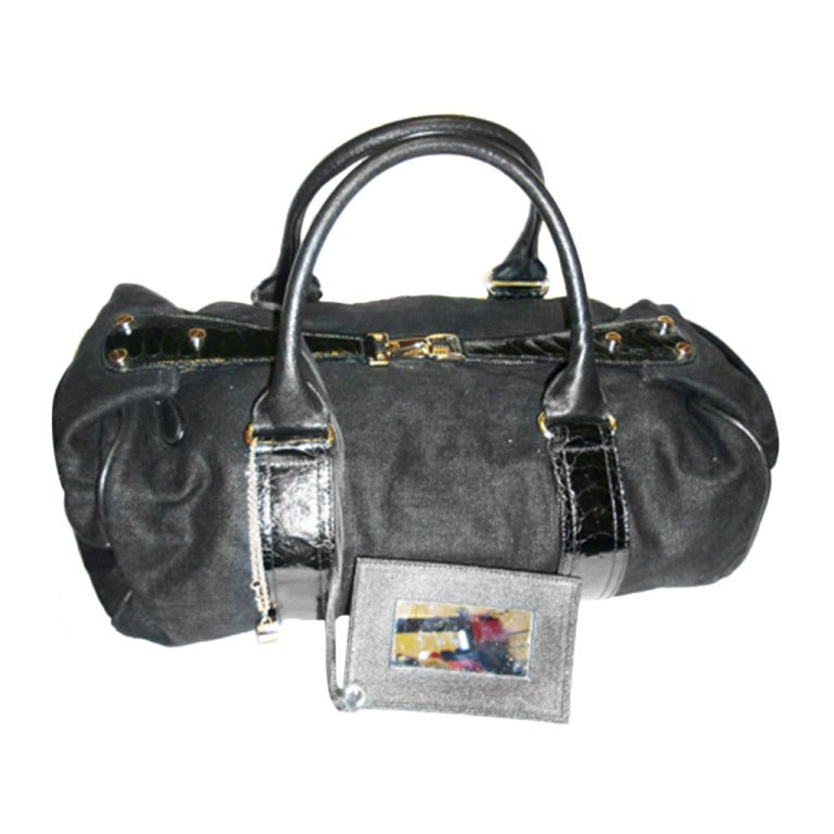 Balenciaga Alligator Trim 'whistle' Satchel Handbag 1