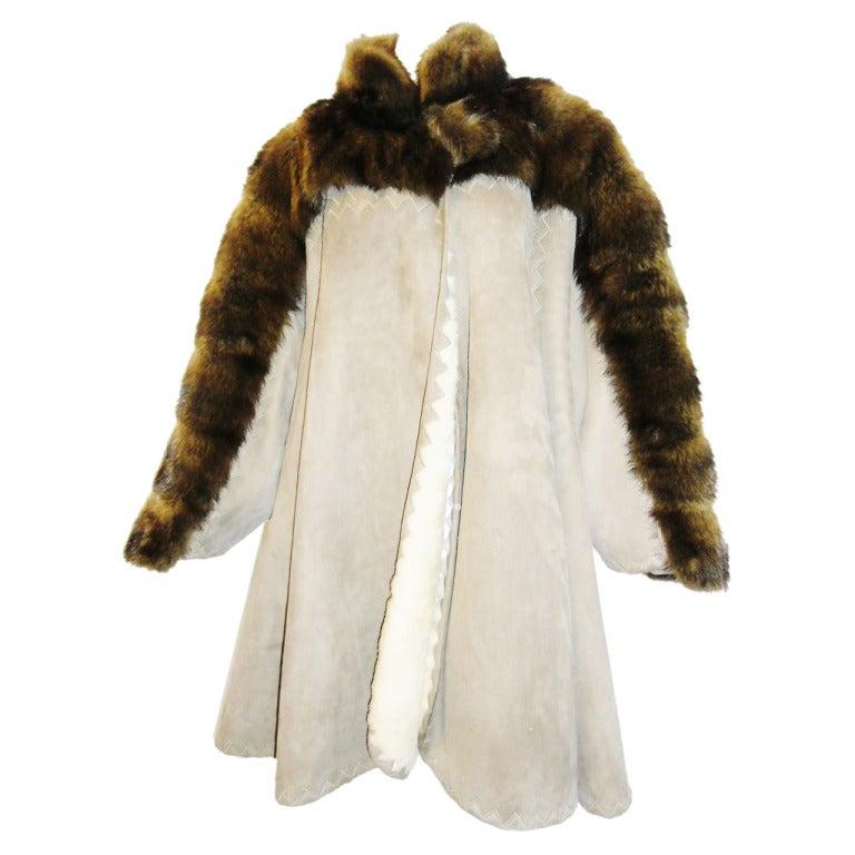 Fendi Fabulous Swing Shearling Fur Coat At 1stdibs