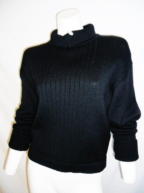 Chanel Black Wool Sweater 3
