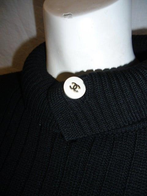 Chanel Black Wool Sweater 4