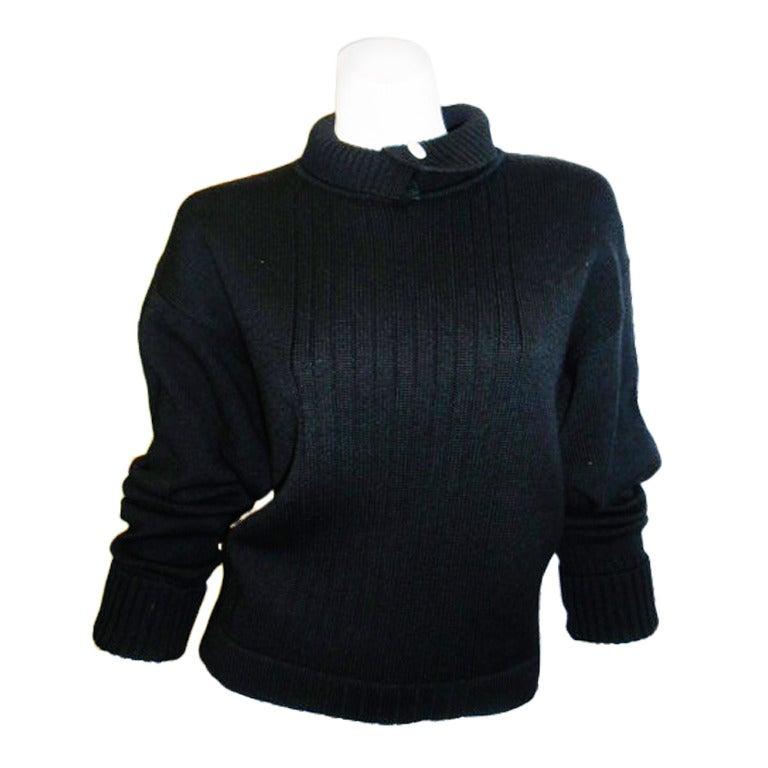 Chanel Black Wool Sweater 1