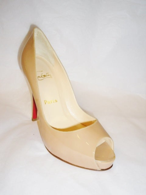 Christian Louboutin Camel Patent leather Very prive  Shoes 3