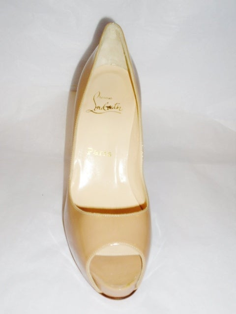 Christian Louboutin Camel Patent leather Very prive  Shoes 4