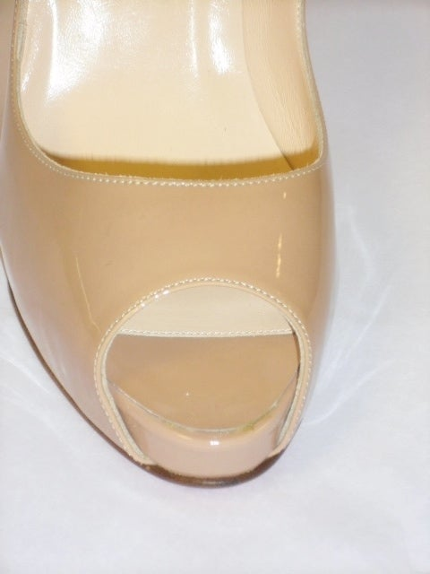 Christian Louboutin Camel Patent leather Very prive  Shoes 5