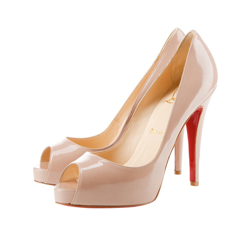 Christian Louboutin Camel Patent leather Very prive  Shoes 1