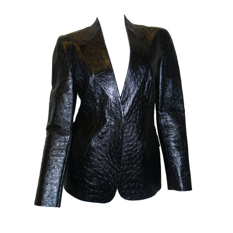 Ostrich leather jackets
