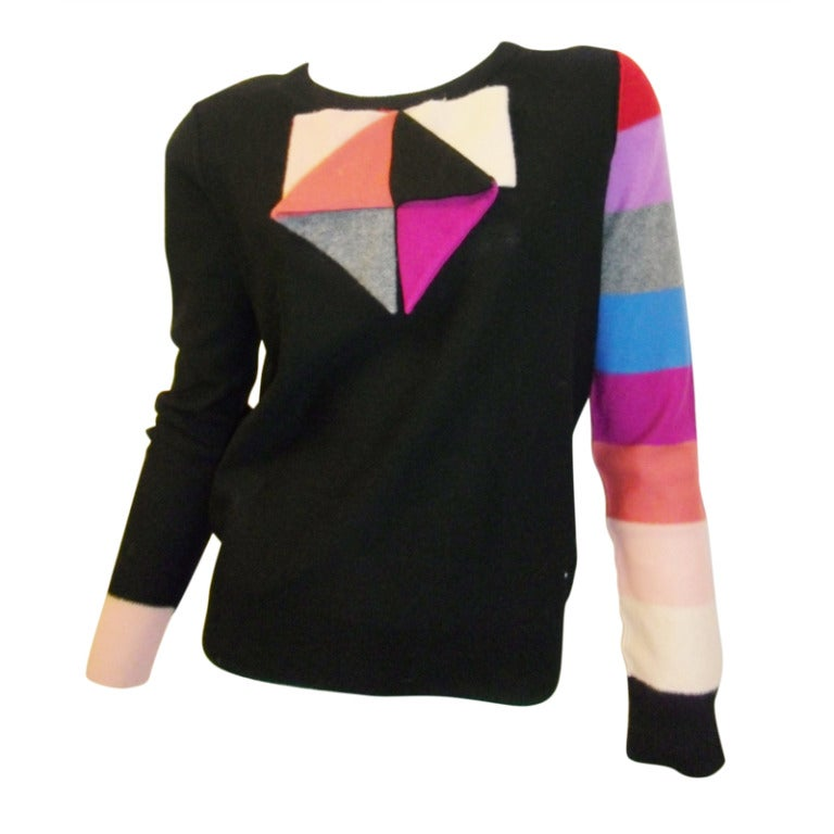 Sonia Rykiel Cashmere Sweater With Origami Bow At 1stdibs