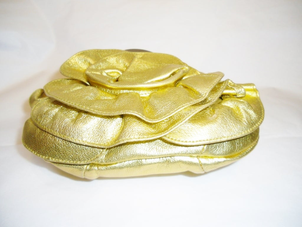 Yves Saint Laurent Gold YSL Nadja Mini Hobo Evening Bag at 1stdibs
