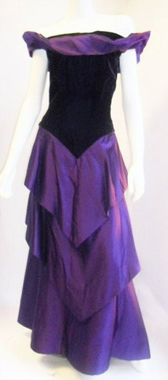 Scaasi  Beautiful Royal Purple Vintage Ball Gown 2