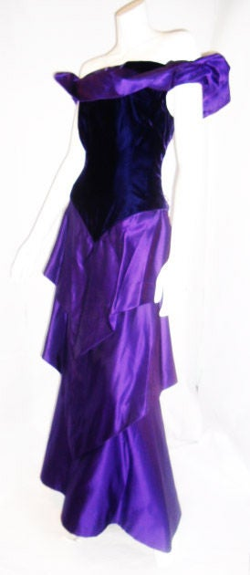 Scaasi  Beautiful Royal Purple Vintage Ball Gown 3
