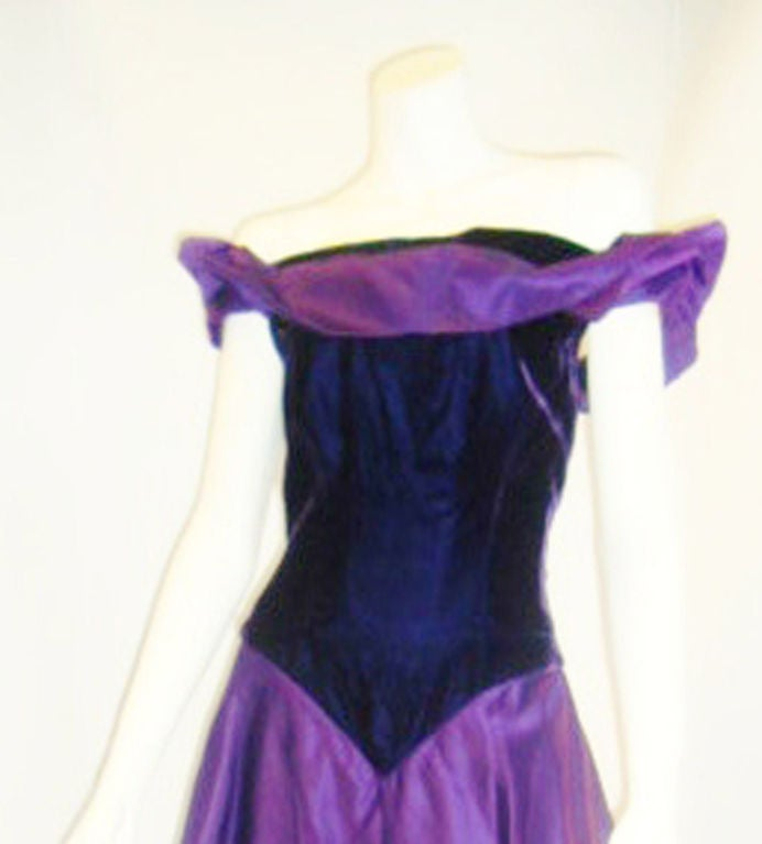 Scaasi  Beautiful Royal Purple Vintage Ball Gown 4