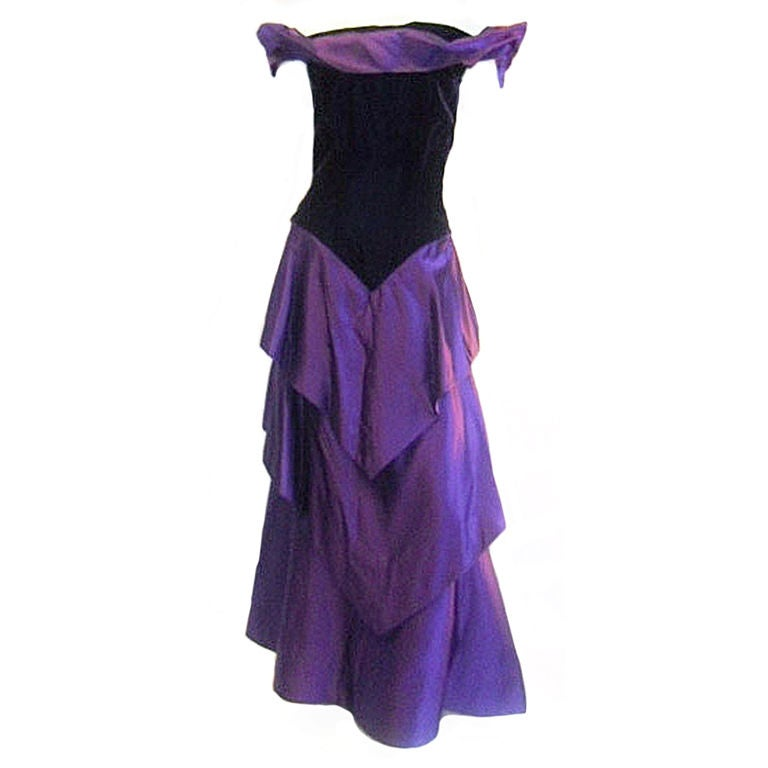 Scaasi  Beautiful Royal Purple Vintage Ball Gown