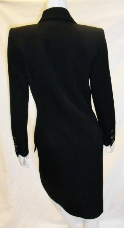 Yves Saint Laurent Haute Couture Tuxedo Coat dress c. 1980 image 7