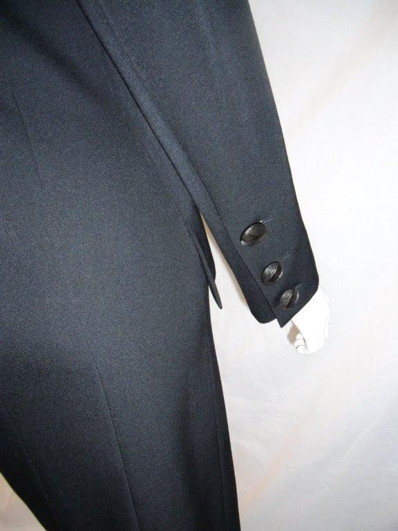 Yves Saint Laurent Haute Couture Tuxedo Coat dress c. 1980 image 8