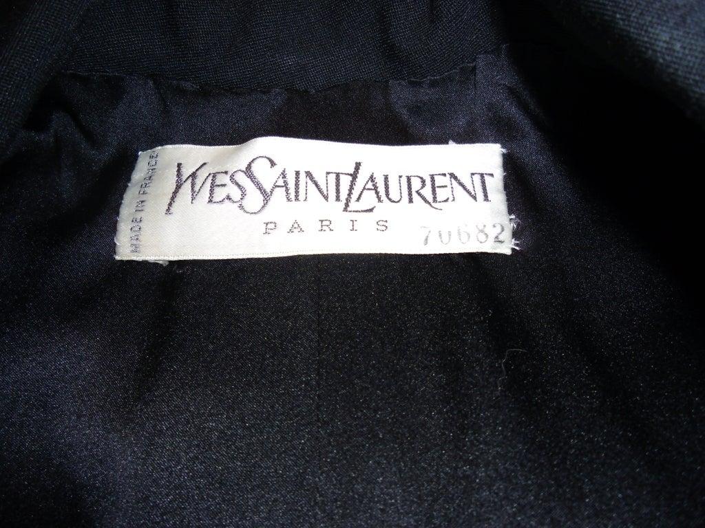 Yves Saint Laurent Haute Couture Tuxedo Coat dress c. 1980 image 9