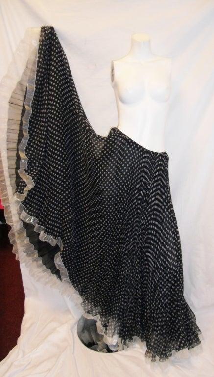 Geoffrey Beene Vintage micro pleated polka dot long skirt image 3