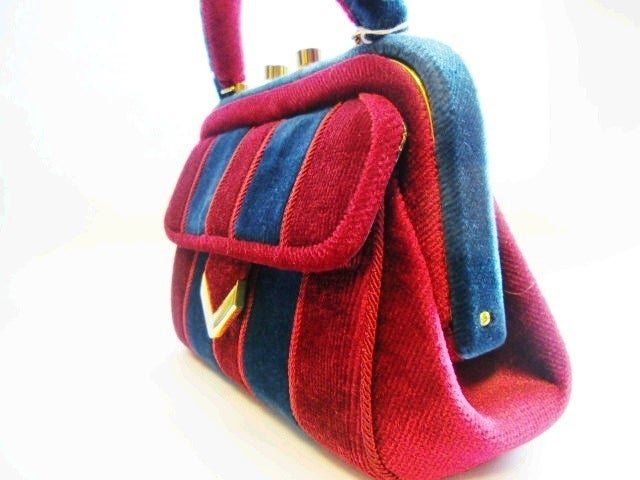 Via Condotti Vintage Velvet Designer L Righini Bag Circa