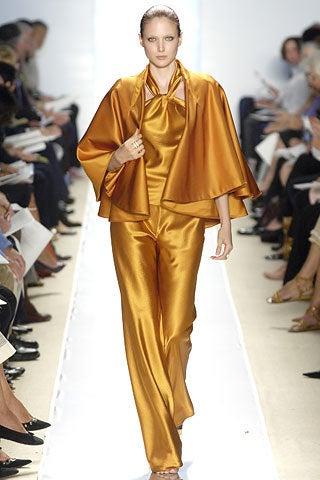 CHADO RALPH RUCCI  Gold silk cape jacket 2006 3