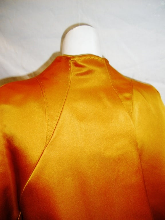 CHADO RALPH RUCCI  Gold silk cape jacket 2006 5