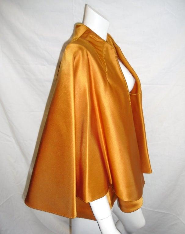CHADO RALPH RUCCI  Gold silk cape jacket 2006 image 6