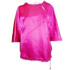 Chado Ralph Rucci Haute Couture Paris Coll.2004 Pink Silk tunic