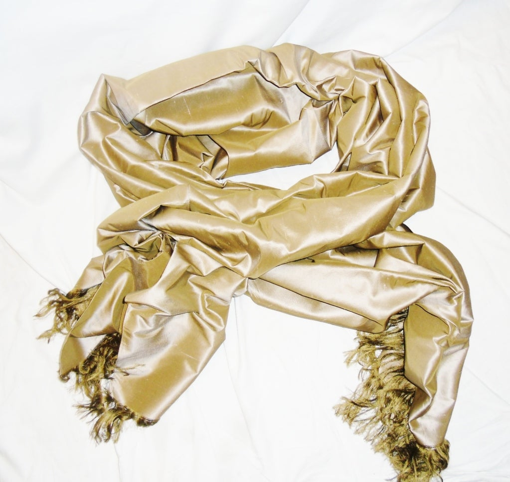 Ralph Rucci Couture oversized silk frinfed evening wrap scarf image 2