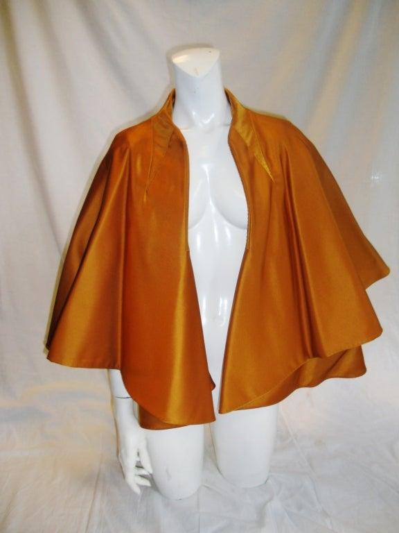 CHADO RALPH RUCCI  Gold silk cape jacket 2006 2