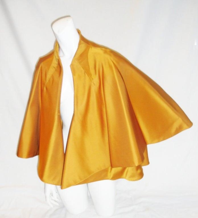 CHADO RALPH RUCCI  Gold silk cape jacket 2006 image 4