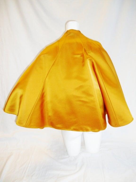 CHADO RALPH RUCCI  Gold silk cape jacket 2006 image 7