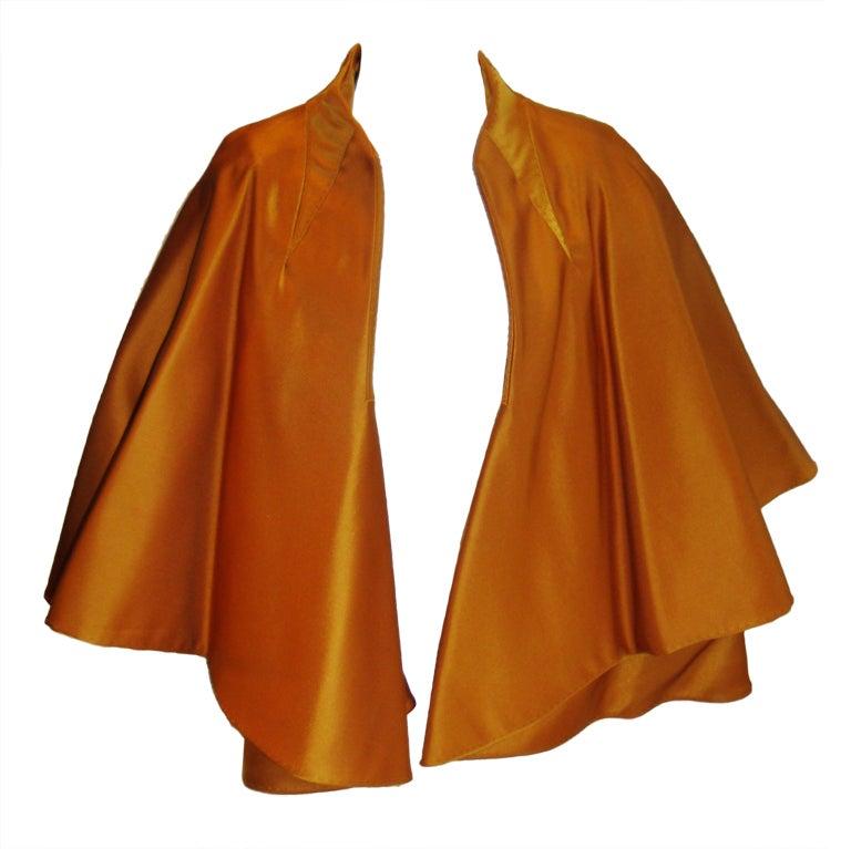 CHADO RALPH RUCCI  Gold silk cape jacket 2006 1