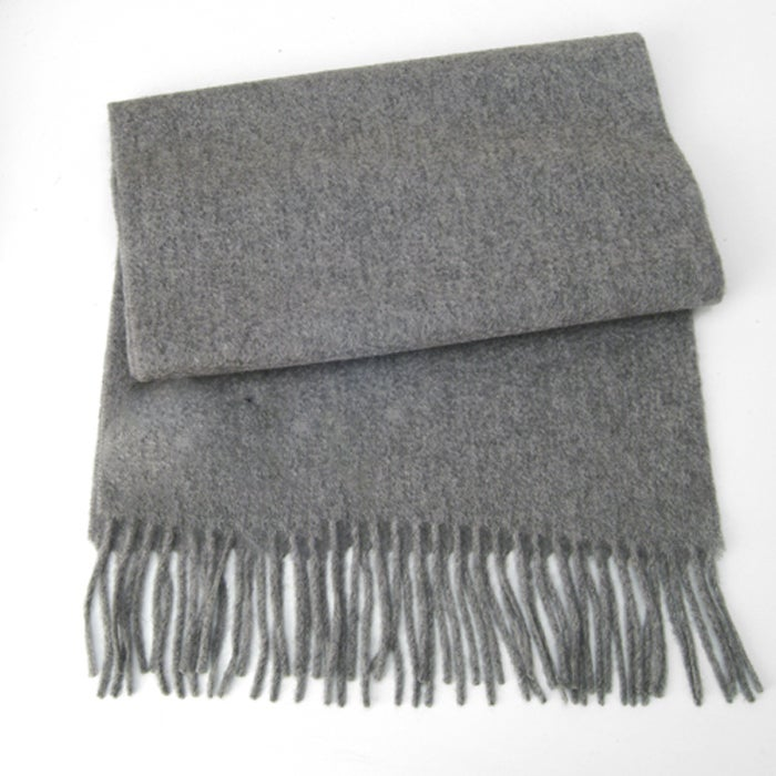 Hermes Cashmere Grey Scarf 3