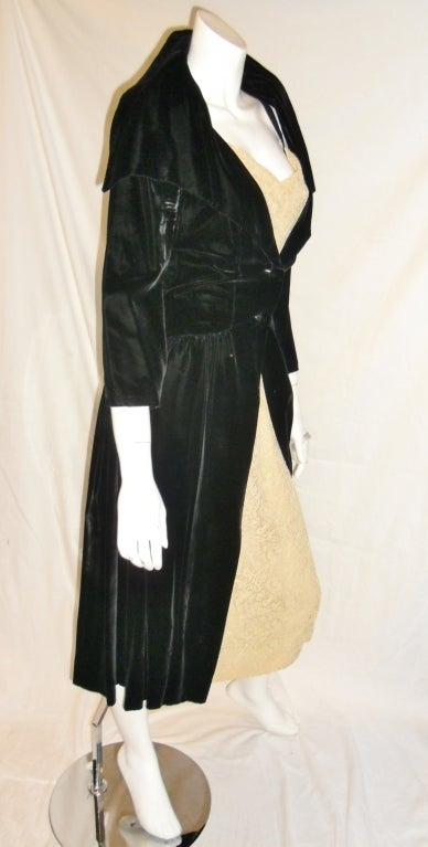 Milmont For Abraham & Straus Rose Room coat and Lace  dress 1950 7