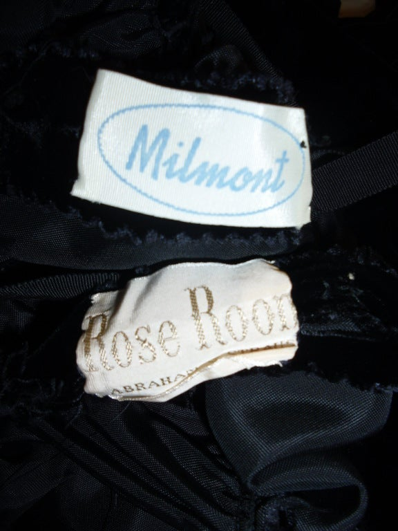 Milmont For Abraham & Straus Rose Room coat and Lace  dress 1950 8