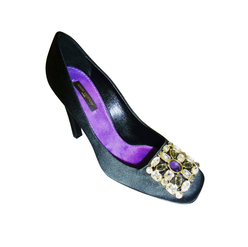 new louis vuitton evening jeweled shoes at 1stdibs