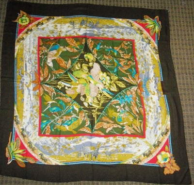 "Hermes  ""Tropiques"" Cashmere  Scarf  Laurence Toutsy Bourthoumie image 3"