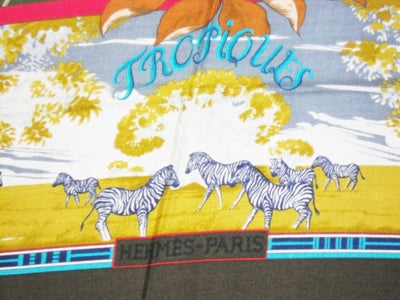 "Hermes  ""Tropiques"" Cashmere  Scarf  Laurence Toutsy Bourthoumie image 6"
