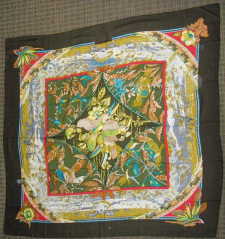 "Hermes  ""Tropiques"" Cashmere  Scarf  Laurence Toutsy Bourthoumie image 2"