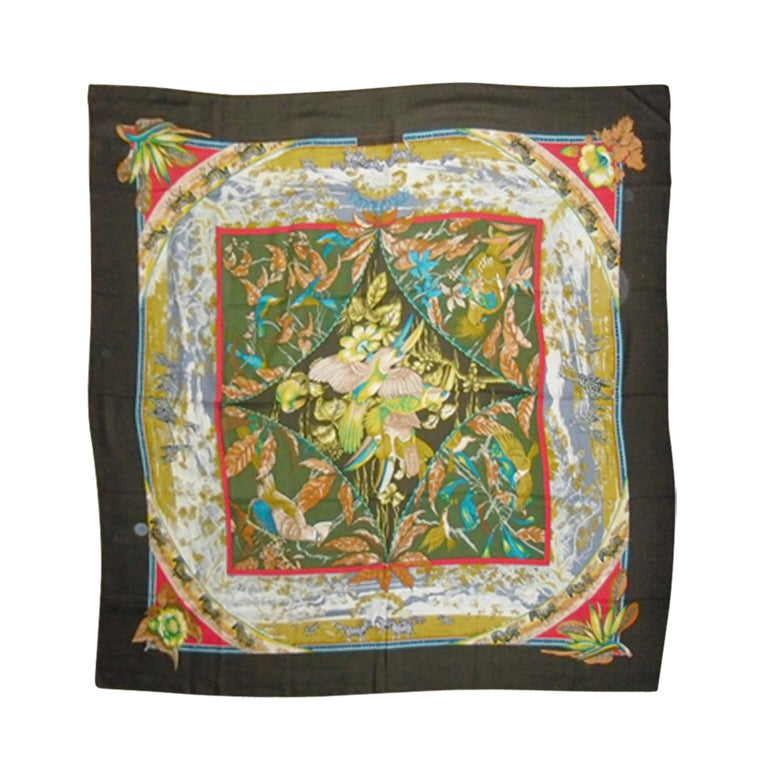 "Hermes  ""Tropiques"" Cashmere  Scarf  Laurence Toutsy Bourthoumie"