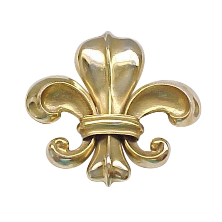 Vintage Christopher Ross Fleur De Lis Buckle At 1stdibs